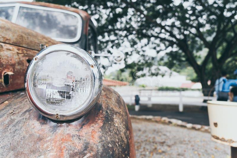 luce capa di vecchia automobile fotografia stock
