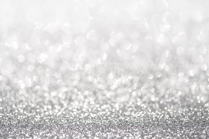 Luce d'argento di scintillio immagini stock