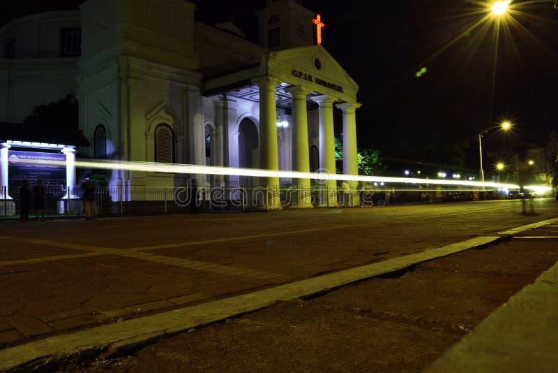Luce davanti alla chiesa del blenduk fotografie stock