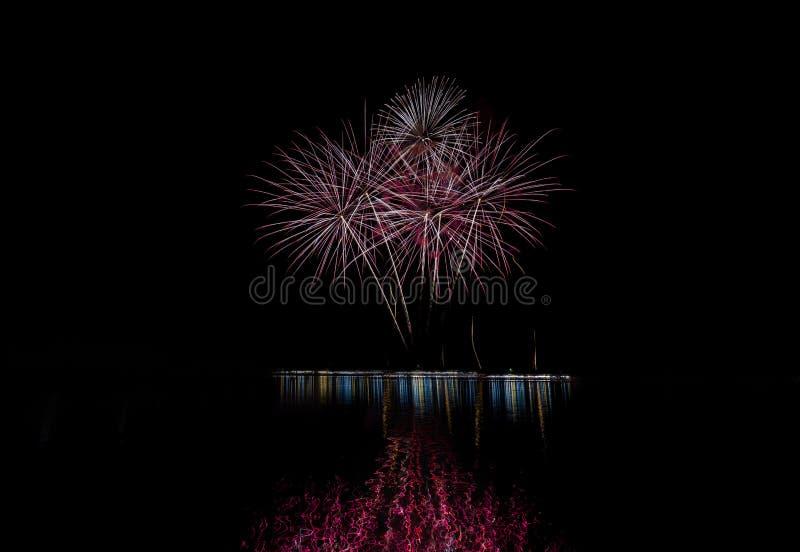 Luce dei fuochi d'artificio fotografia stock