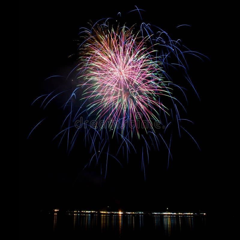 Luce dei fuochi d'artificio immagine stock