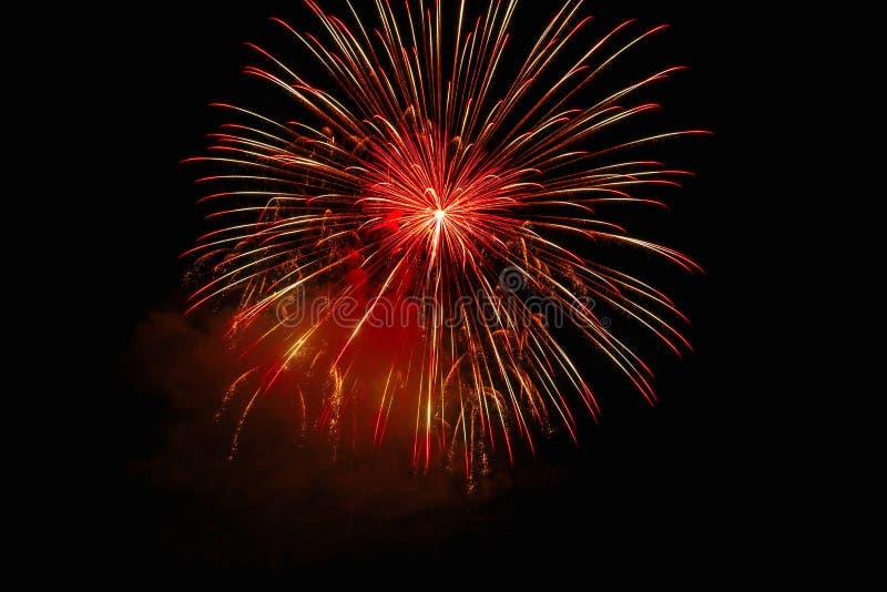 Luce dei fuochi d'artificio sull'esposizione di abbagliamento fotografia stock libera da diritti