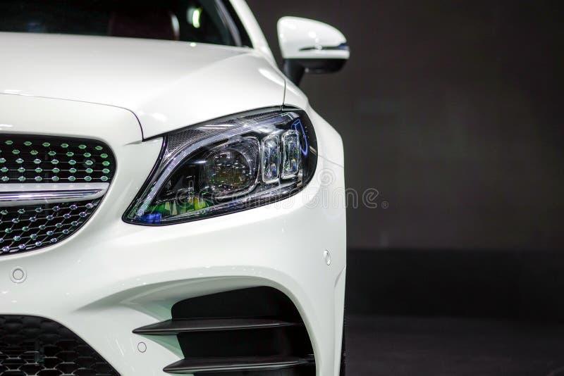 Luce del colpo di Stato di Mercedes Benz C200 immagini stock