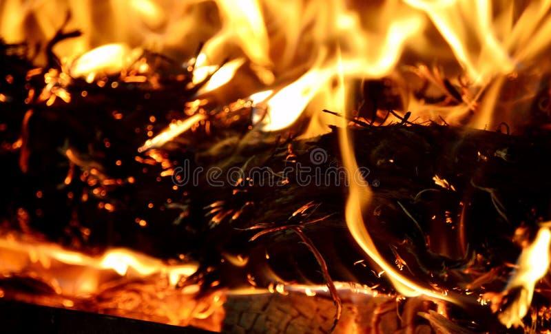 Luce del fuoco fotografia stock