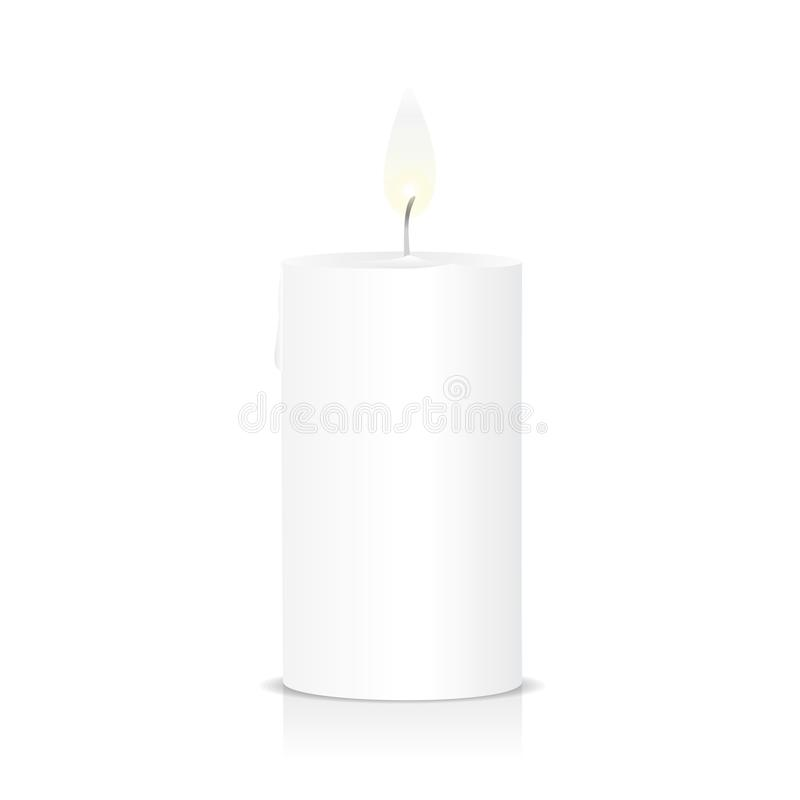 Luce del fuoco della fiamma di candela illustrazione vettoriale