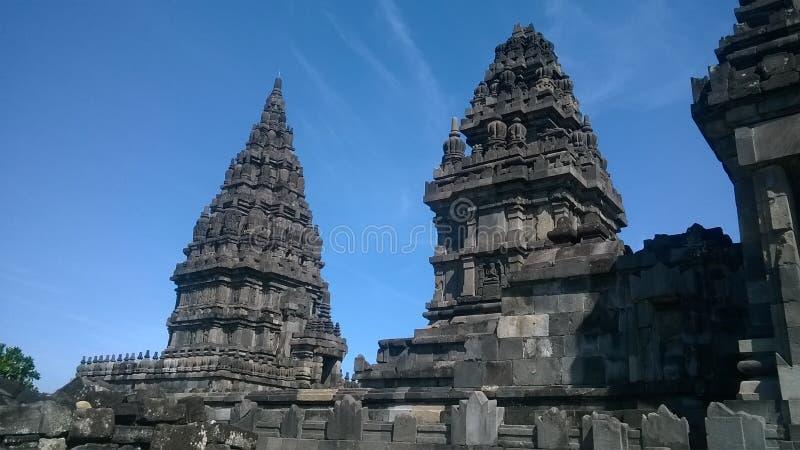 Luce del giorno del tempio di Prambanan fotografia stock libera da diritti
