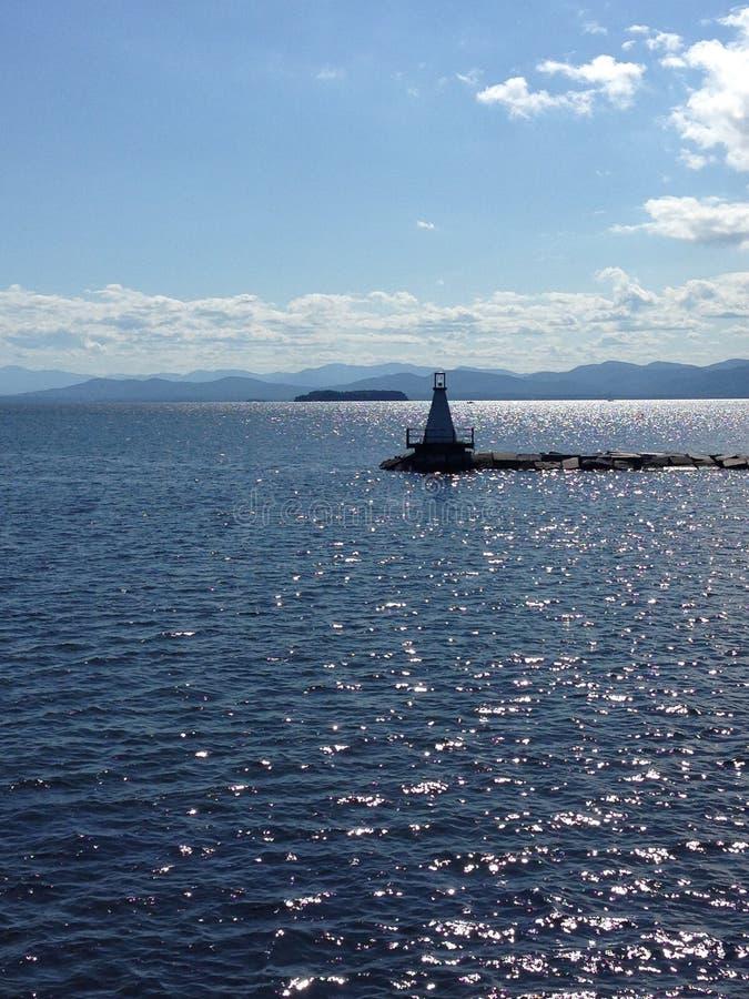 Luce del lago Champlain immagini stock libere da diritti