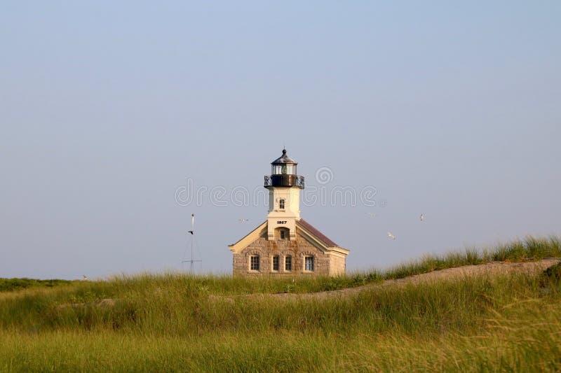 Luce del nord, isola di blocco, Rhode Island fotografia stock