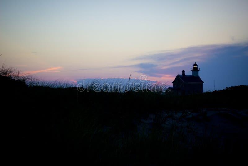 Luce del nord, isola di blocco, Rhode Island fotografia stock libera da diritti