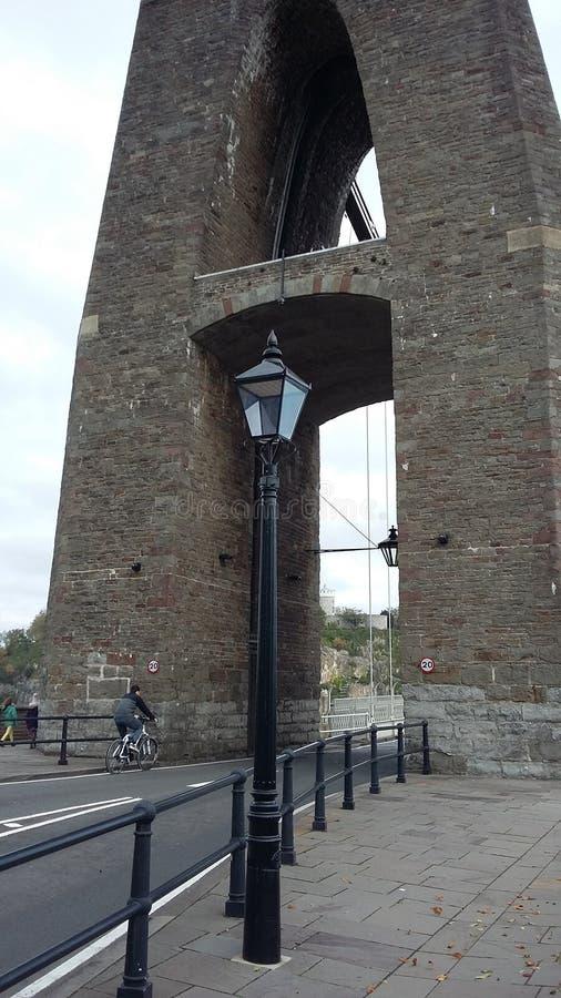 Luce del ponte sospeso di Clifton immagine stock