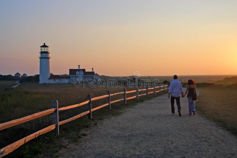 Luce del punto della corsa, Cape Cod, Massachusetts, U.S.A. fotografie stock libere da diritti