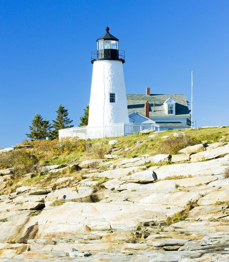 luce del punto di Pemaquid del faro, Maine, U.S.A. fotografia stock