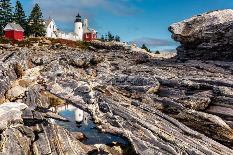 Luce del punto di Pemaquid in Maine fotografia stock