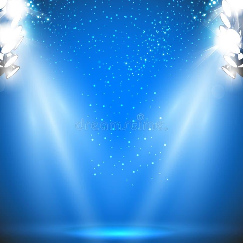 Luce del riflettore dello stadio royalty illustrazione gratis