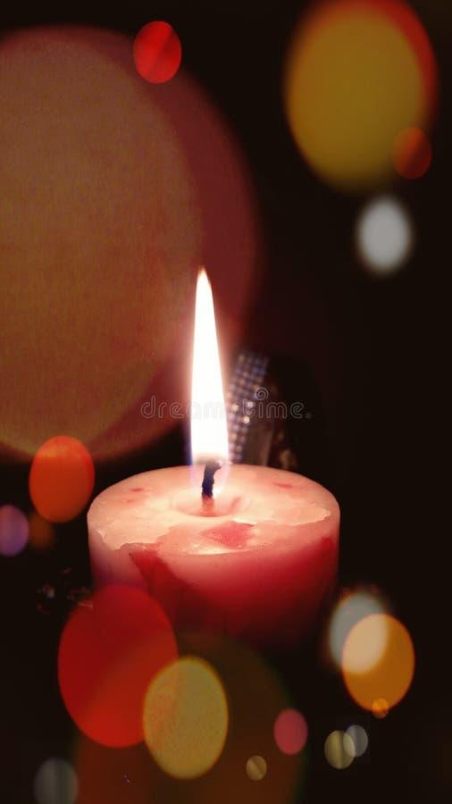 Luce della candela fotografia stock libera da diritti
