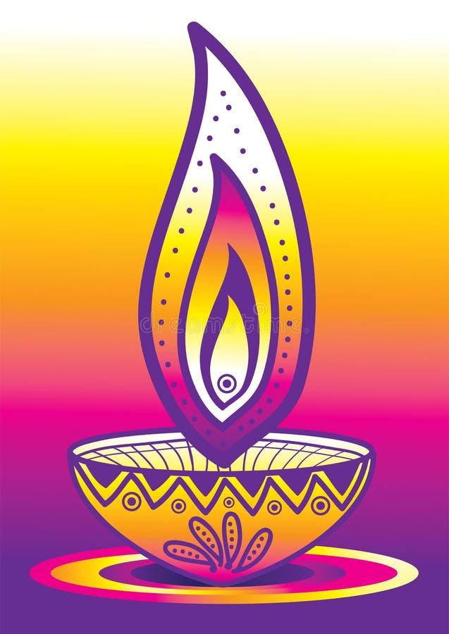 Luce della candela di Diwali royalty illustrazione gratis