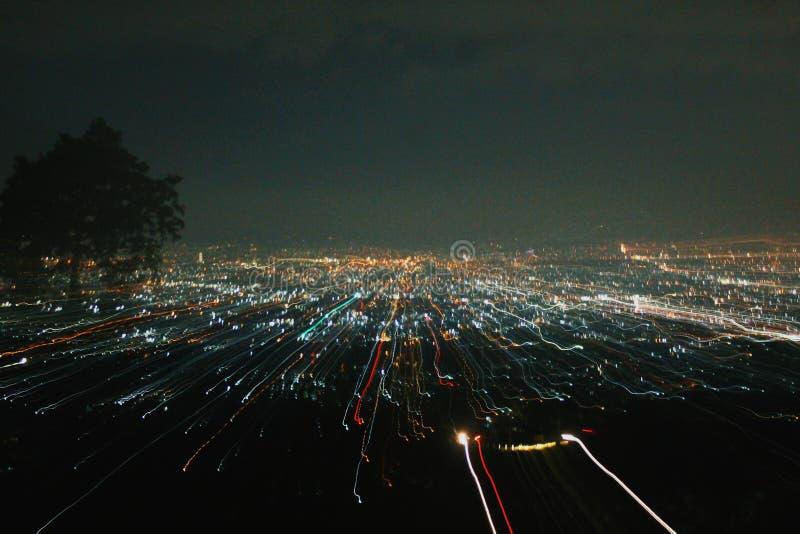 Luce della città fotografia stock