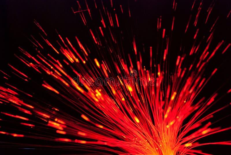 Luce della fibra nel rosso fotografie stock libere da diritti