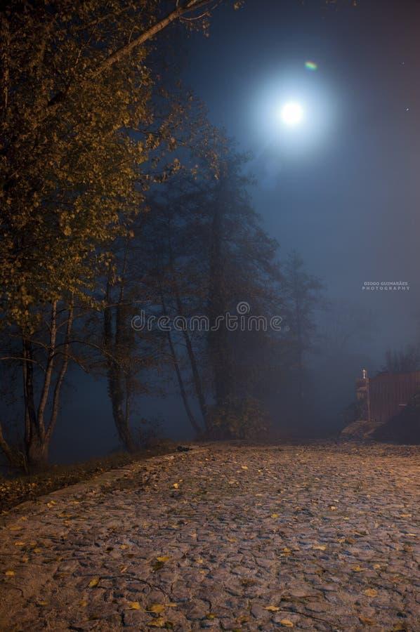 Luce della luna - Audafe Braga fotografia stock