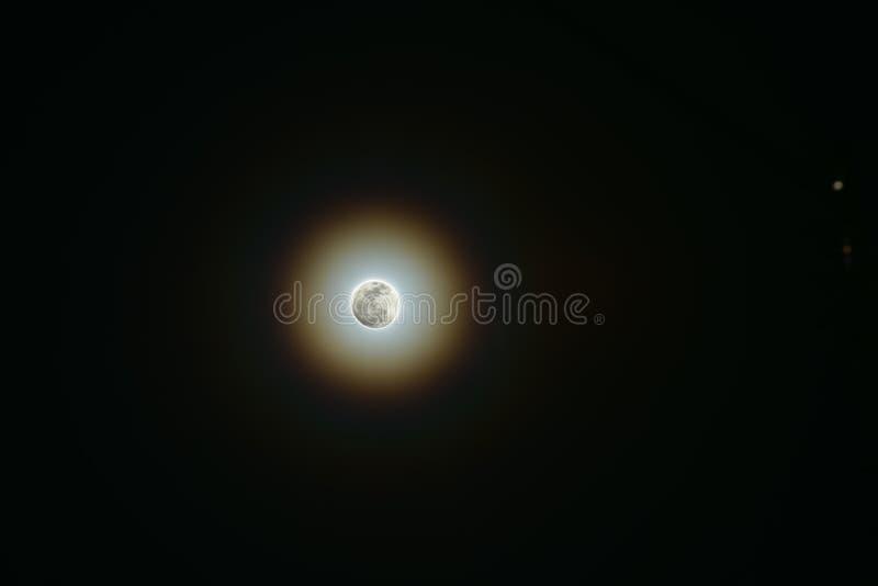 Luce della luna calda immagini stock