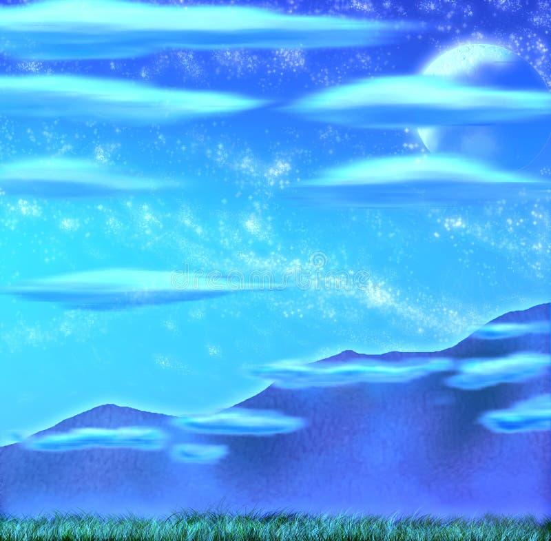 Luce della luna della carta da parati immagini stock