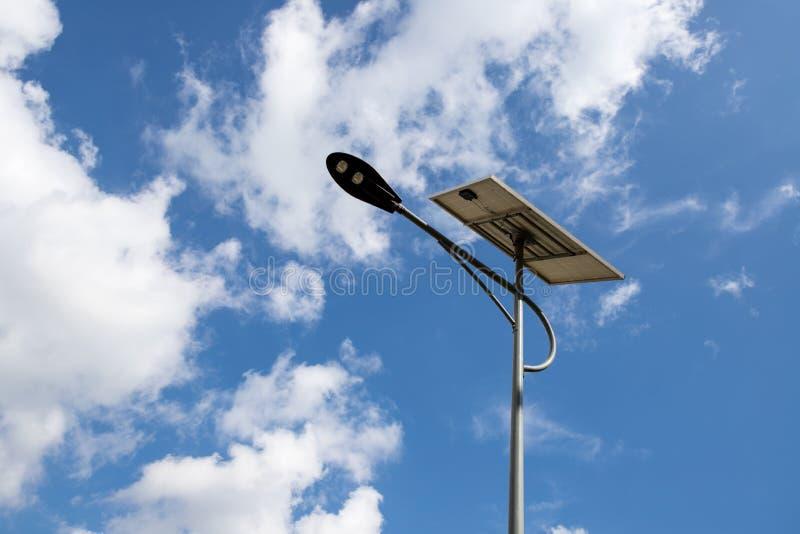 Luce della pila solare immagini stock libere da diritti