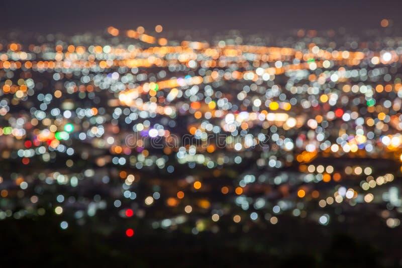 Luce della sfuocatura della città fotografia stock