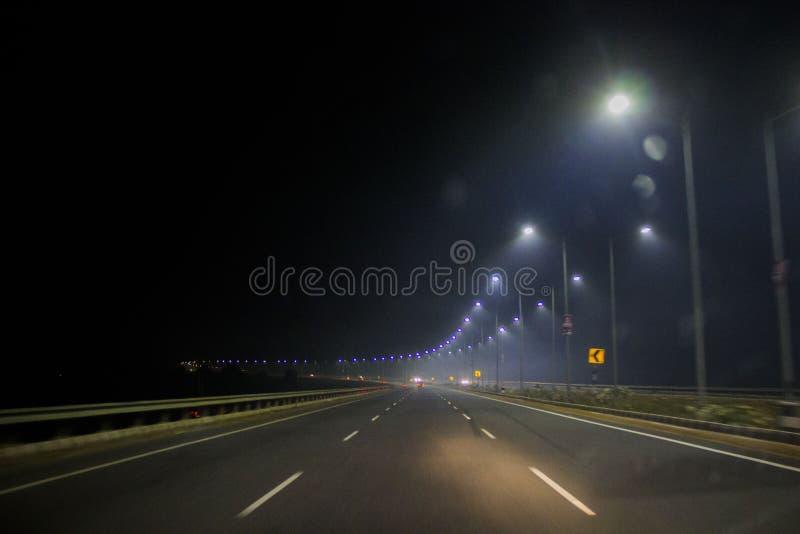 Luce della strada principale fotografia stock