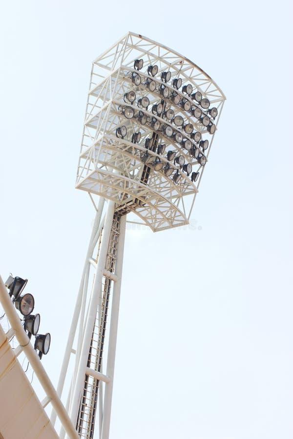 Luce dello stadio. fotografia stock
