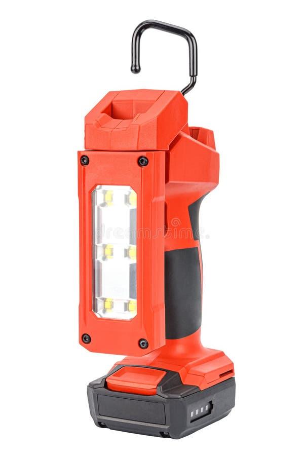 Luce di attività LED a 12V senza cavi con testa flessibile e gancio retrattile per un'illuminazione priva di mani in plastica rin fotografia stock libera da diritti