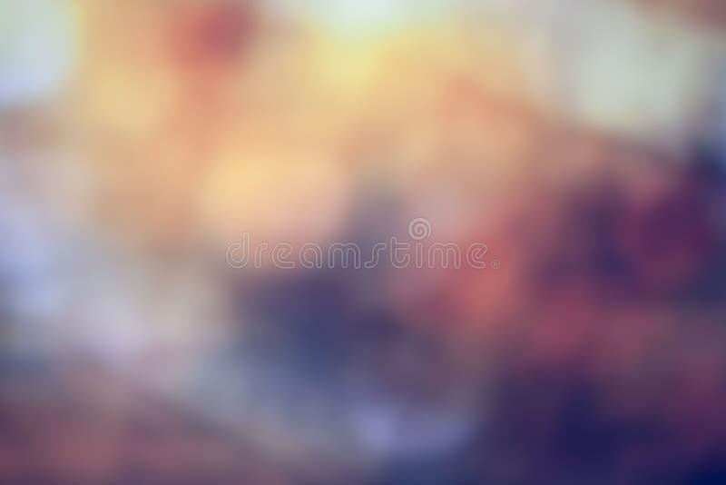 Luce di Bokeh sul fondo di colore pastello fotografia stock