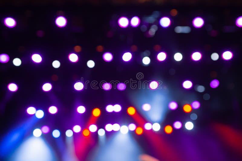 Luce di concerto Scena vuota di musica Illuminazione di teatro Musica leggera Lampade sottragga la priorit? bassa immagini stock