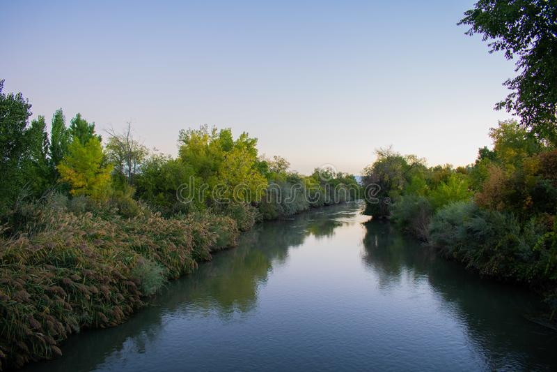 Luce di Jordan River di mattina immagine stock