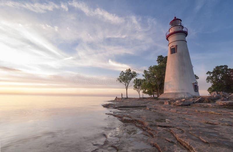 Luce di Marblehead [Ohio, Stati Uniti] immagini stock libere da diritti