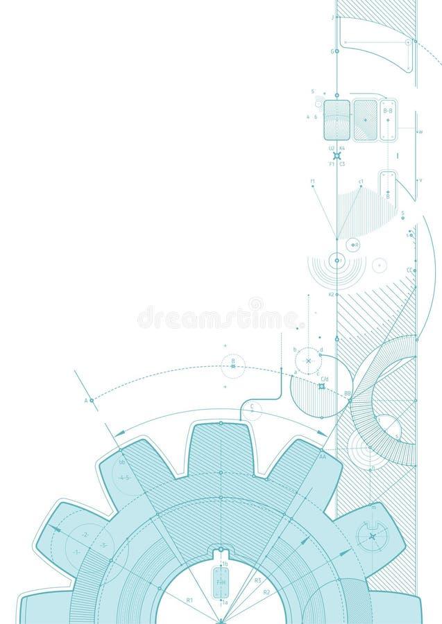 Luce di verde del progetto dell'ingranaggio illustrazione di stock