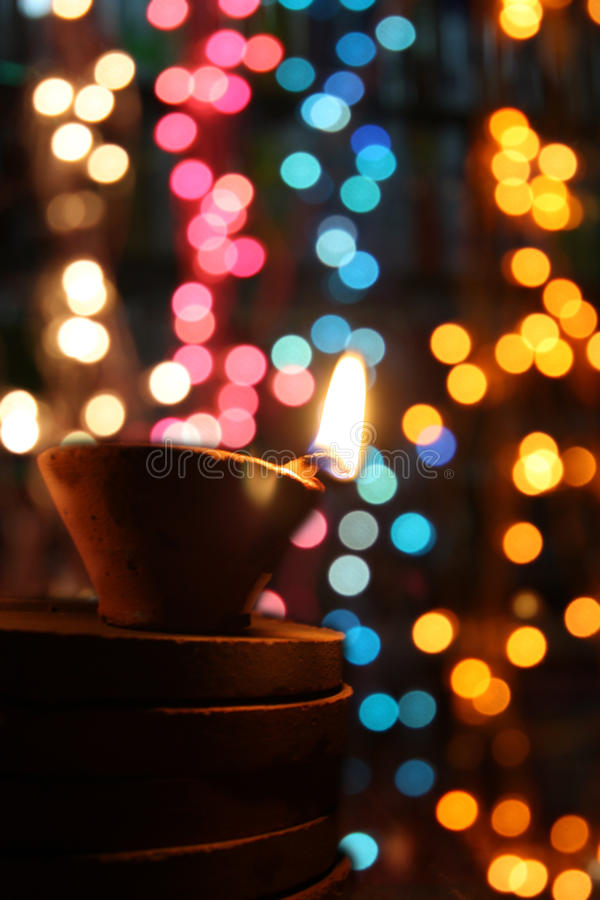 Luce e colori di Diwali fotografie stock libere da diritti