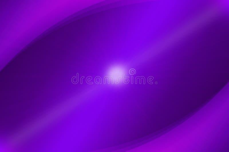 Luce e curve d'ardore dell'estratto nella porpora ed in Violet Background illustrazione vettoriale