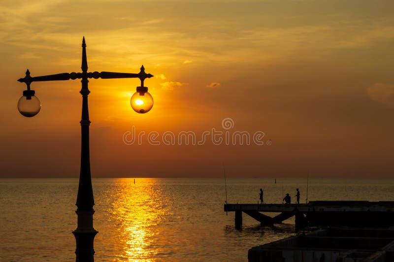 Luce falsa della lampada della spiaggia fotografia stock