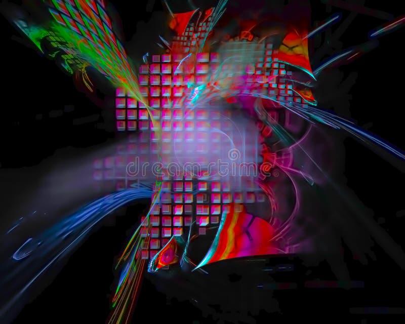 Luce magica astratta creativa, immaginazione di progettazione di mistero del manifesto, templaterendering grafico della struttura illustrazione di stock