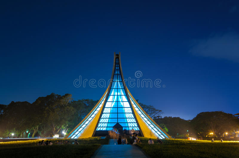 Luce Memorial Chapel op Tunghai-Universiteit royalty-vrije stock fotografie