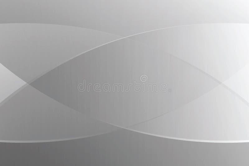Luce morbida di colore di pendenza e linea grafico grige per il fondo moderno di lusso di pubblicità dell'insegna dei cosmetici illustrazione di stock