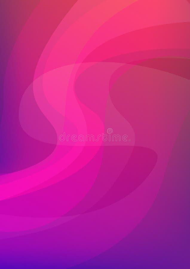 Luce nordica su colore verticale di rosa del fondo dell'estratto di vettore in A4 per progettazione dell'aletta di filatoio, dell illustrazione vettoriale