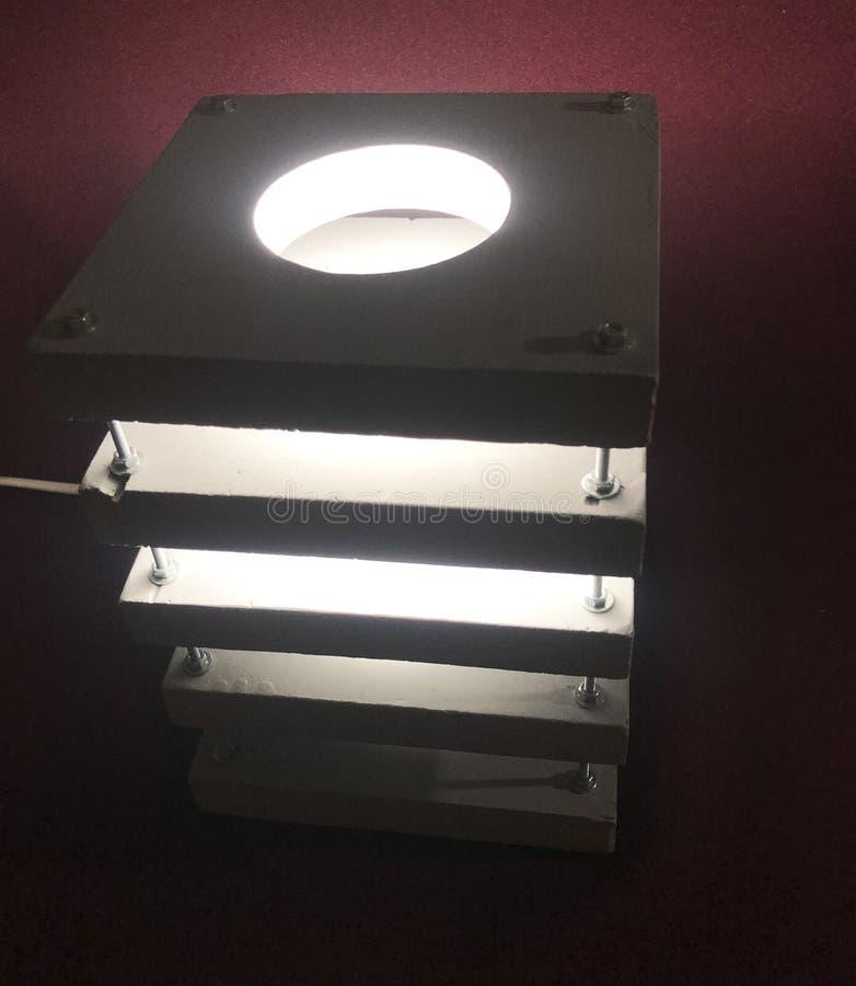 Luce notturna grigia di legno della luce notturna fotografia stock