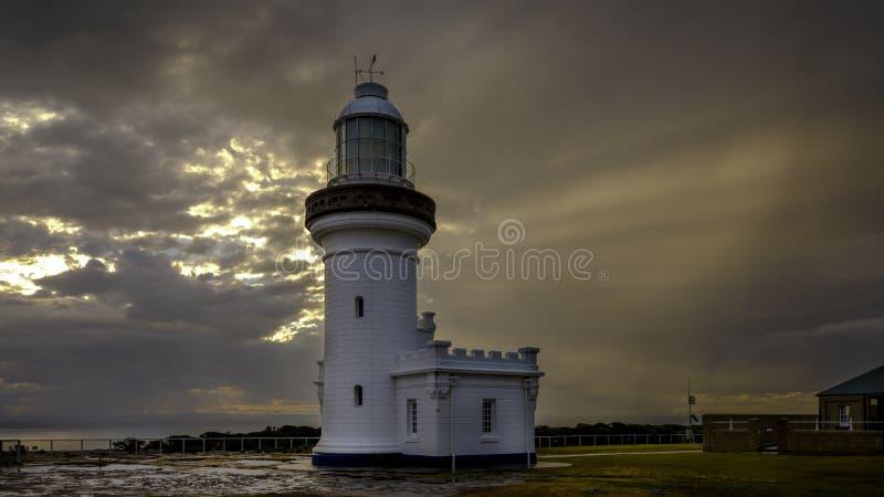 Luce perpendicolare del punto nella gamma dell'arma di Beecroft in Jervis Bay, NSW, Australia fotografie stock
