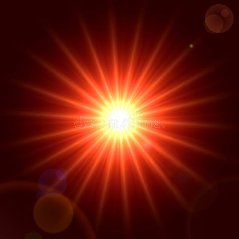 Luce rossa illustrazione di stock