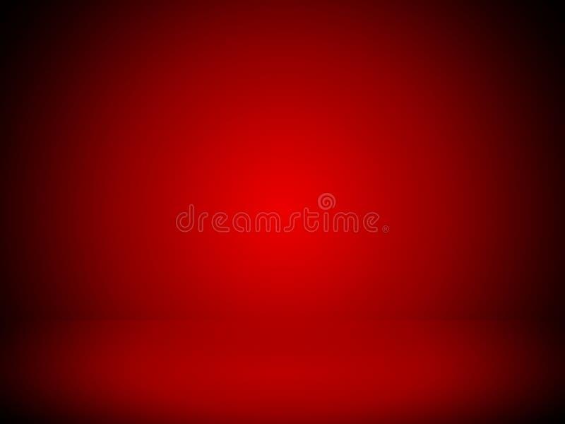 Luce rossa del punto del fondo astratto e studio vuoto della stanza immagine stock libera da diritti