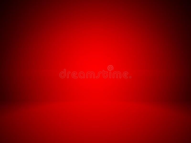 Luce rossa del punto del fondo astratto e studio vuoto della stanza immagine stock