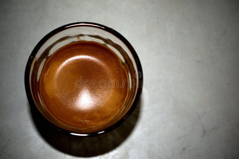 Luce su caffè espresso immagini stock libere da diritti