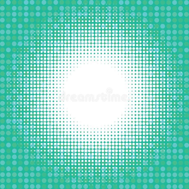 Luce su fondo digitale verde illustrazione vettoriale