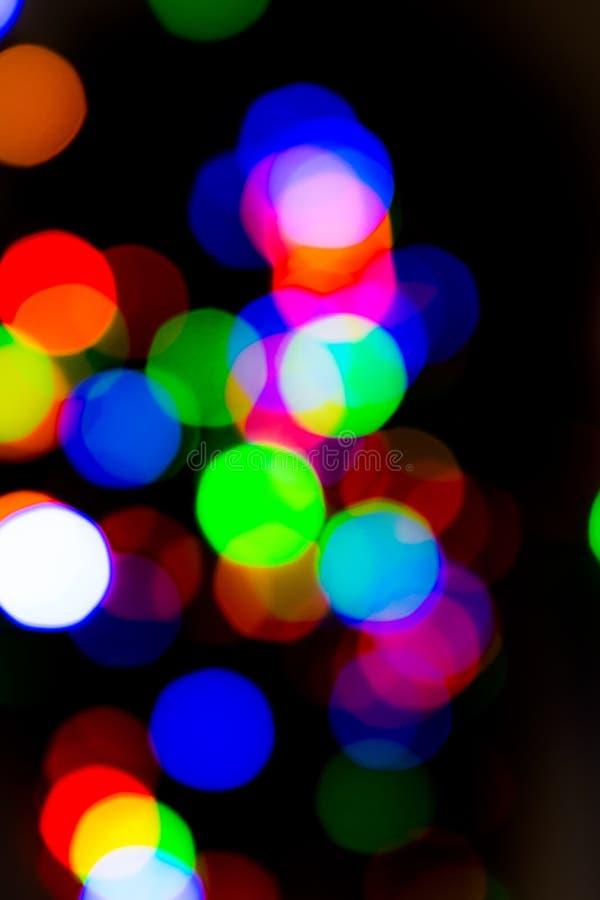 Luce sul bokeh di notte immagine stock libera da diritti